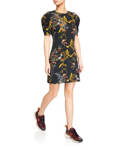Blackbird Puff-Sleeve Tee Dress