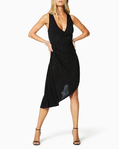 Mariella Studded Asymmetrical Cocktail Dress