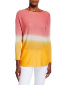 120% Lino Dip Dye Long-Sleeve Cashmere Sweater