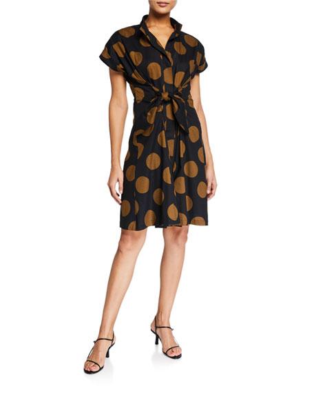 Finley Rocky Killer Tie-Front Dot Dress