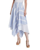 Finley Happy Big Breezy Striped Handkerchief Skirt