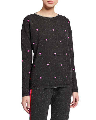 Heart Attack Speckled French Terry Pullover
