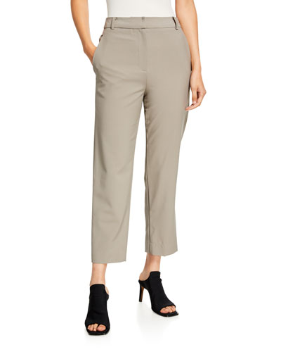 Taylor Tropical Wool Mid-Rise Ankle Pants