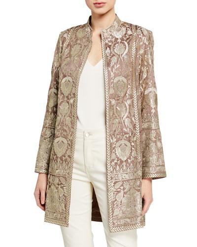 Selena Metallic Embroidered Jacket