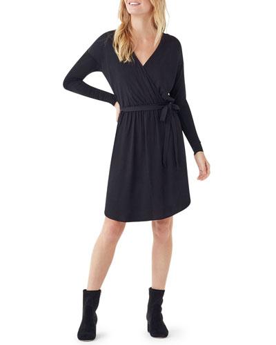 Balsa Mixed Media Long-Sleeve Dress