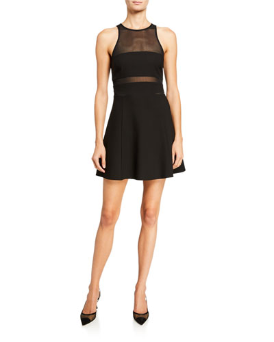 Renee Illusion Fit-and-Flare Cocktail Dress