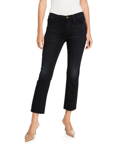 Le High Straight Cropped Jeans