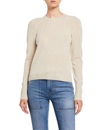 Sustainable Cashmere Raglan-Sleeve Sweater