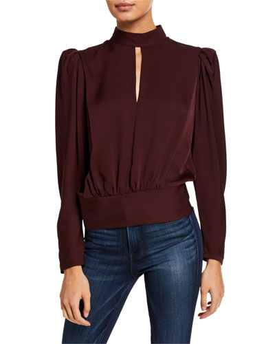 Luxe Keyhole Top