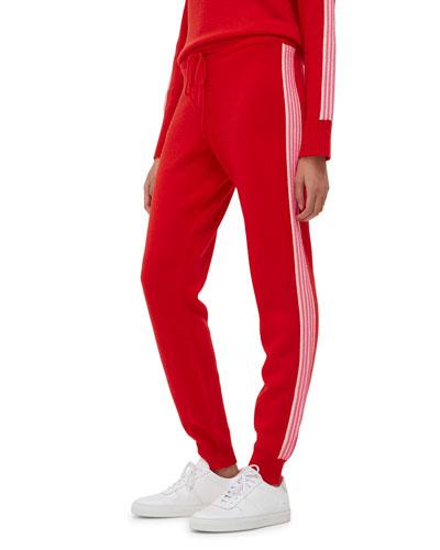 Ripple Side-Stripe Wool Track Pants