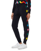 Chinti And Parker Star-Pattern Ski Track Pants