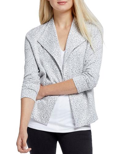 Plus Size Leo Leopard Print Jacket