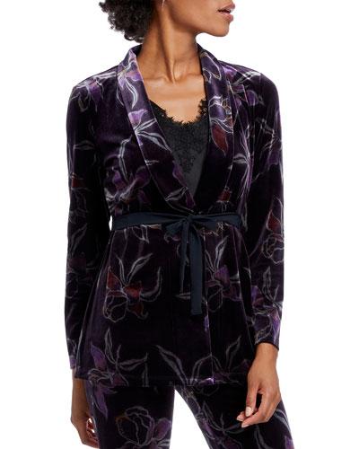 Soft Petal Velvet Jacket