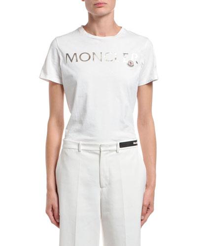 Short-Sleeve Cotton Gold Logo T-Shirt