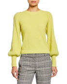 A.L.C. Eliana Crewneck Bishop-Sleeve Sweater and Matching Items