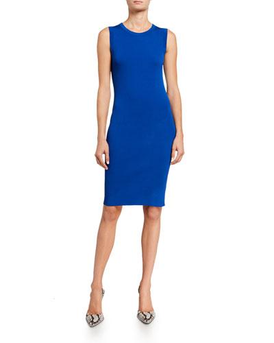 Crewneck Sleeveless Bodycon Dress
