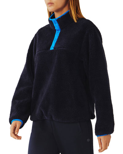 Sherpa Fleece Snap Front Jacket