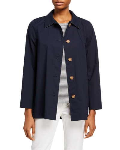 Nidia Travelers Cloth Button-Front Jacket