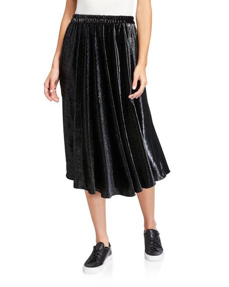 Xirena Vivien Crushed Velvet Skirt