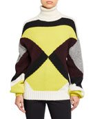 A.L.C. Angelou Colorblock Turtleneck Sweater