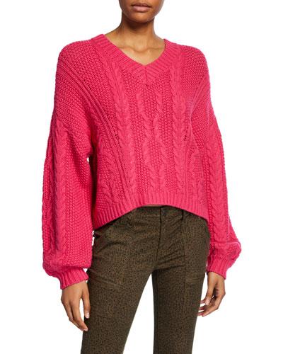 Vinita Cable-Knit Sweater