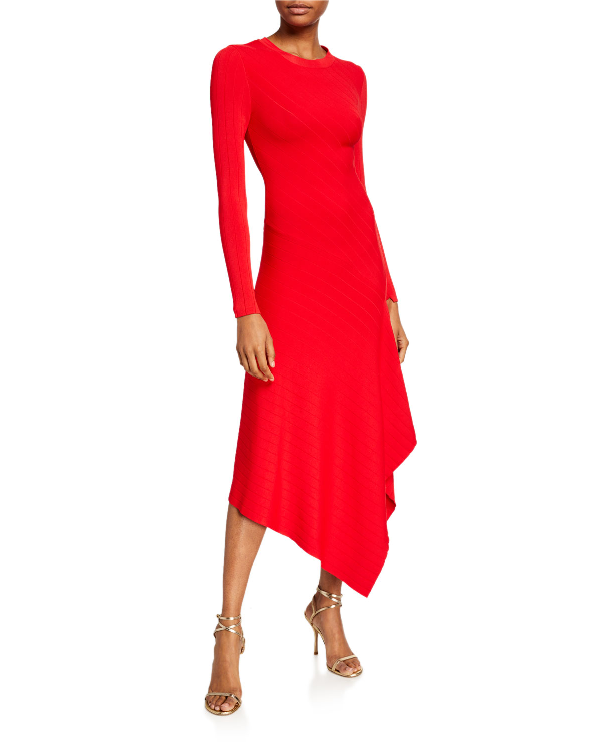 A.l.c Dresses VIVIANA ASYMMETRICAL LONG-SLEEVE DRESS