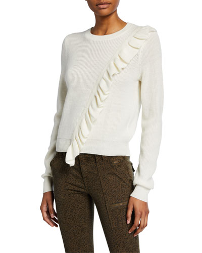 Viviana Ruffle Pullover Sweater