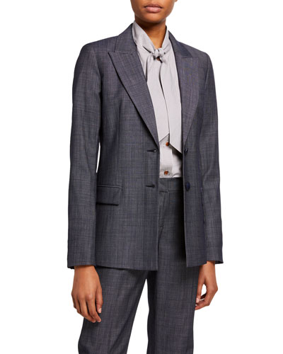 Harlow Fusion Suiting Two-Button Jacket
