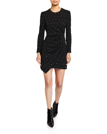 A.L.C. Lana Embellished Long-Sleeve Mini Dress