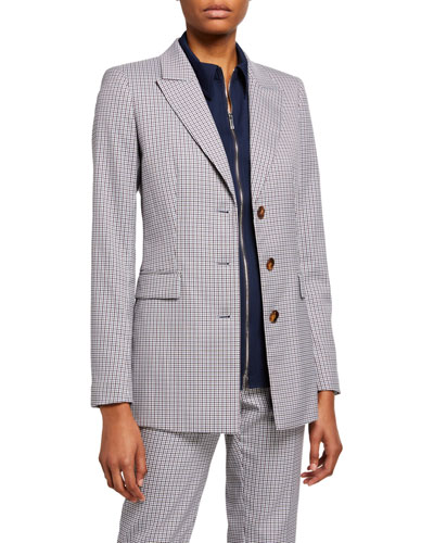 Maggie Mini Check Tattersall Blazer