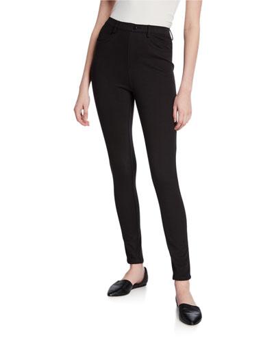 Plus Size Five-Pocket Stretch Twill Ankle Jeans