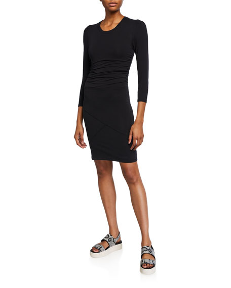 ATM Anthony Thomas Melillo Pima Cotton 3/4-Sleeve Dress