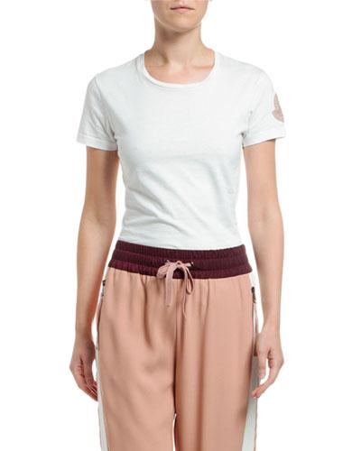 Logo-Sleeve Cotton T-Shirt