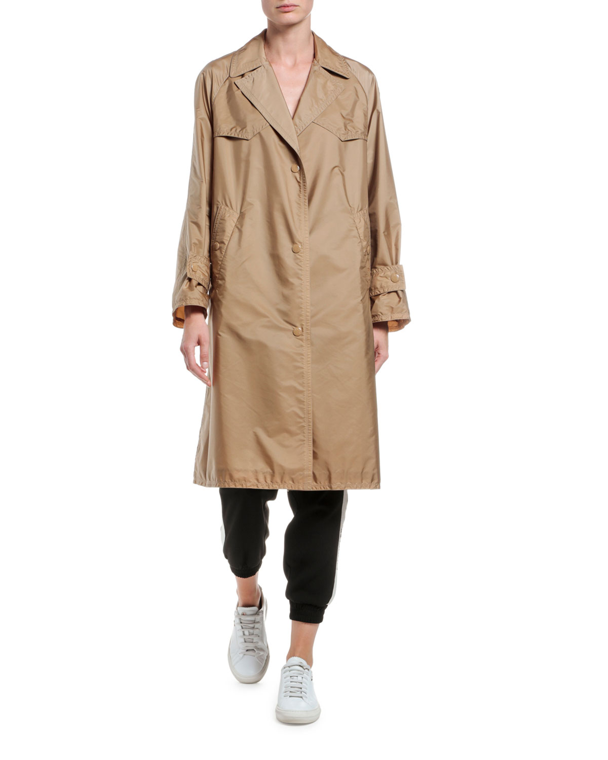 Moncler Coats VANILLE LONG RAINCOAT