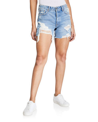 Jourdan Ripped Denim Cutoff Shorts