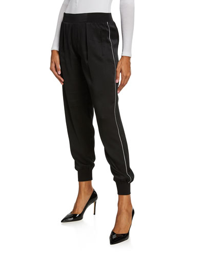 Hammered Silk Pull-On Pants
