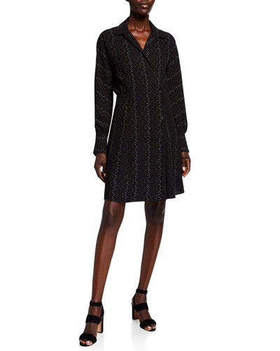 Harmon Long-Sleeve Wrap Dress
