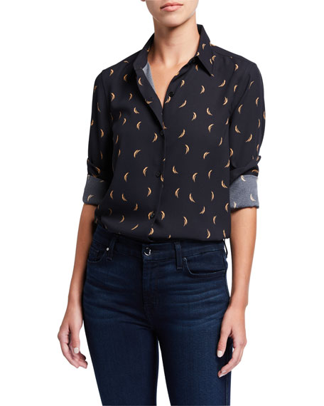 Equipment Essential Printed Button-Down Blouse
