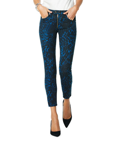 Kate Animal-Print Skinny Jeans