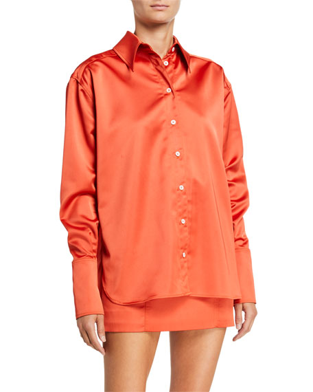 Gauge 81 Palermo Satin Oversized Shirt