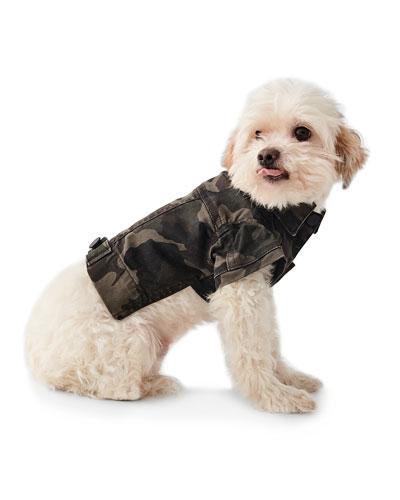 Camo-Print Canine Trucker Jacket