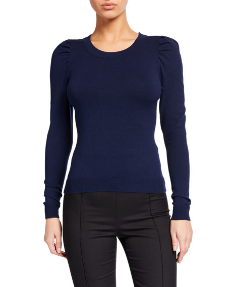 Milly Draped Sleeve Sweater