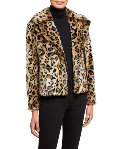 The Mini Pocket Rider Faux-Fur Jacket