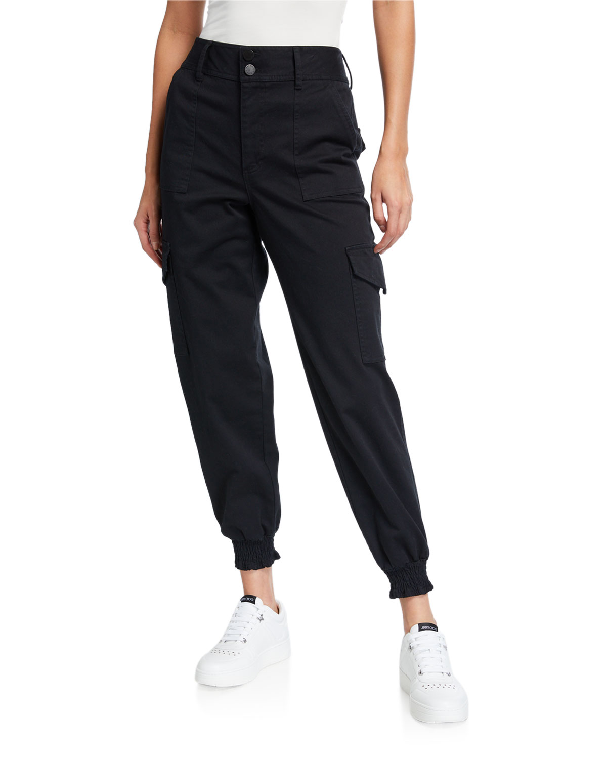 Alice And Olivia Pants HYDE HIGH-WAIST CARGO PANTS