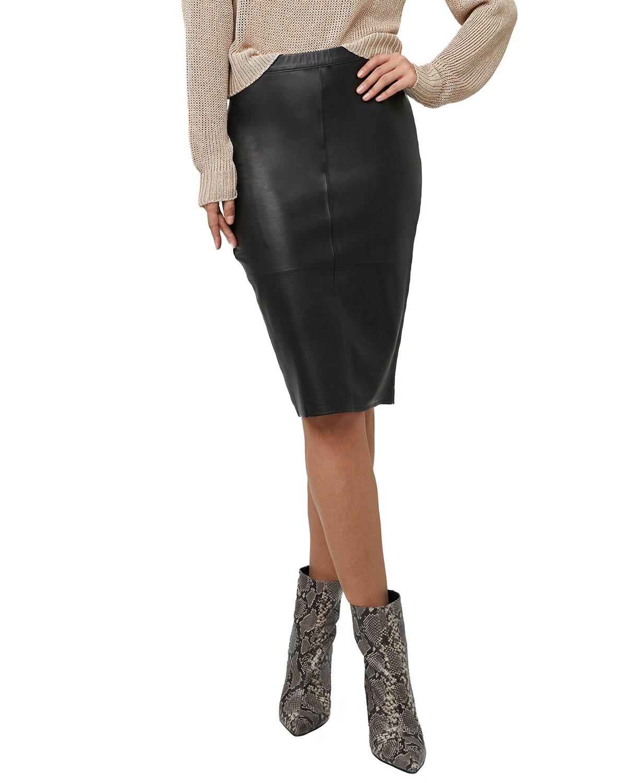 Port Elizabeth Leather Skirt