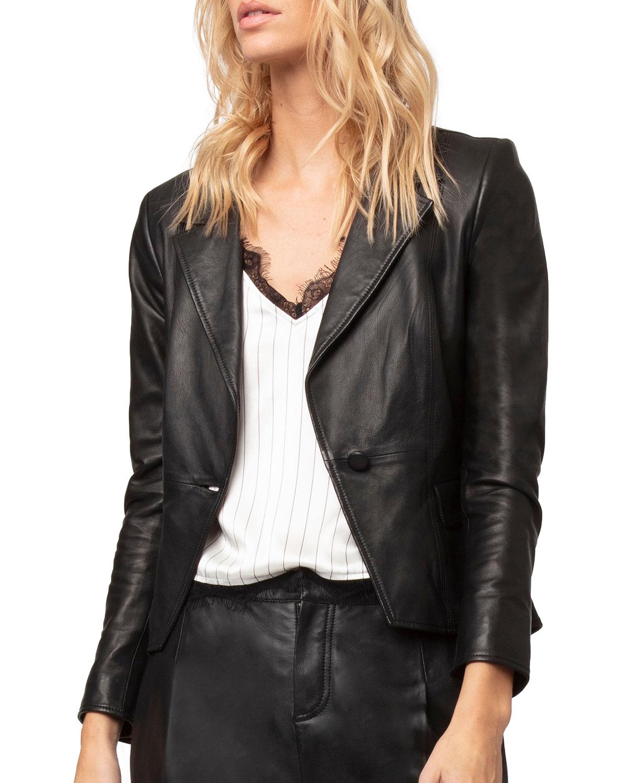 Bianca Leather Blazer