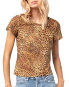 AS by DF New Guard Leopard-Print Short-Sleeve Suede