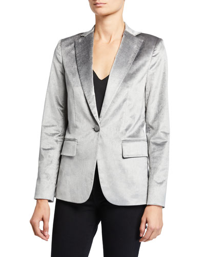 Velvet Classic Single-Button Blazer