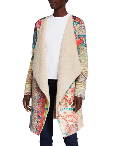 Etro Print Faux Shearling Easy Jacket