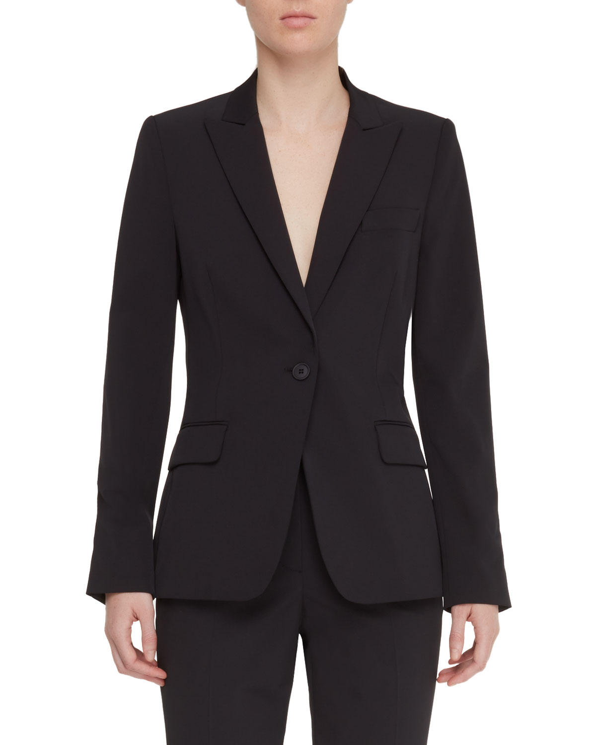 Expressionist One-Button Easy Care Jacket
